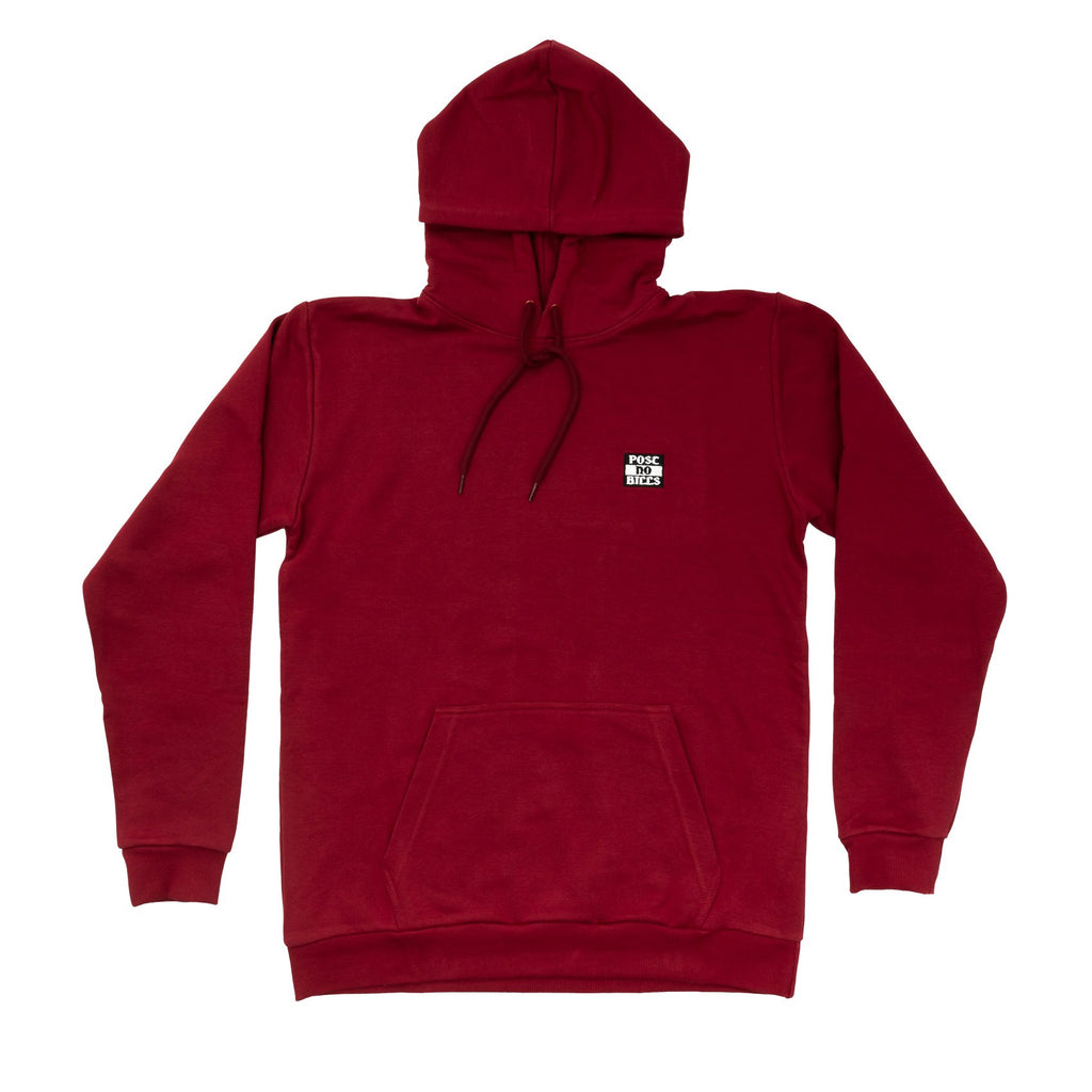Post No Bills Hooded Sweatshirt Burgundy