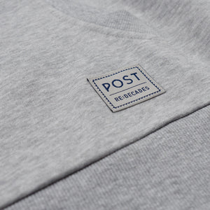 Half zip hoodie - Post REdecades - Athletic Circle logo - Heather grey