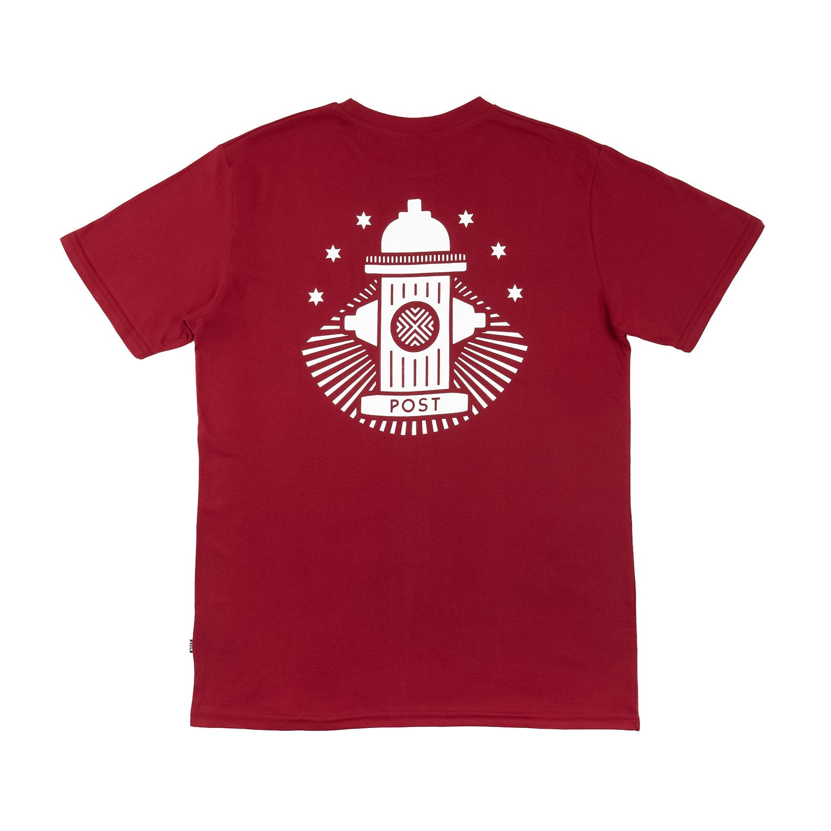 Post No Bills Hydrant T-shirt Burgundy