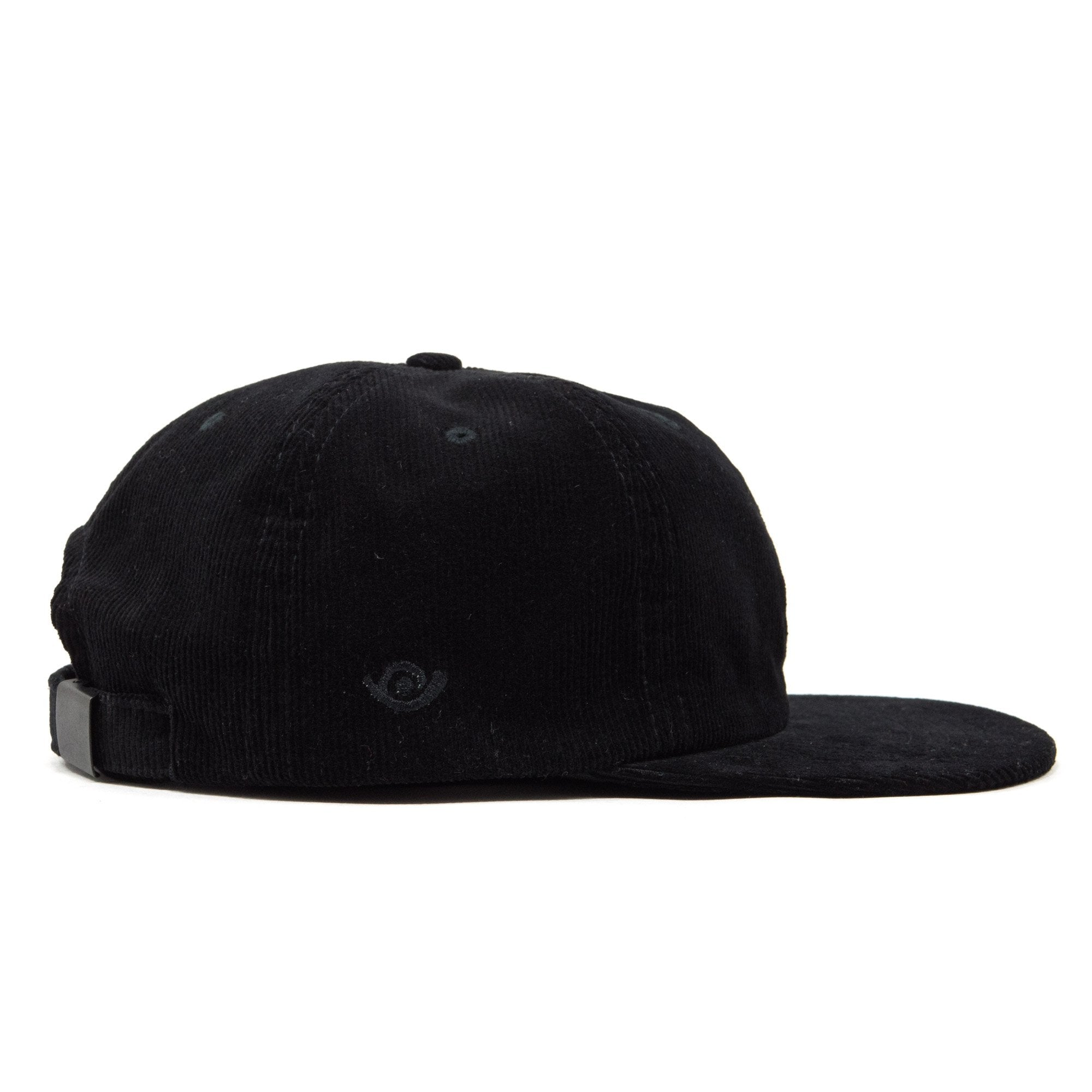 Rose Six panel cap Black