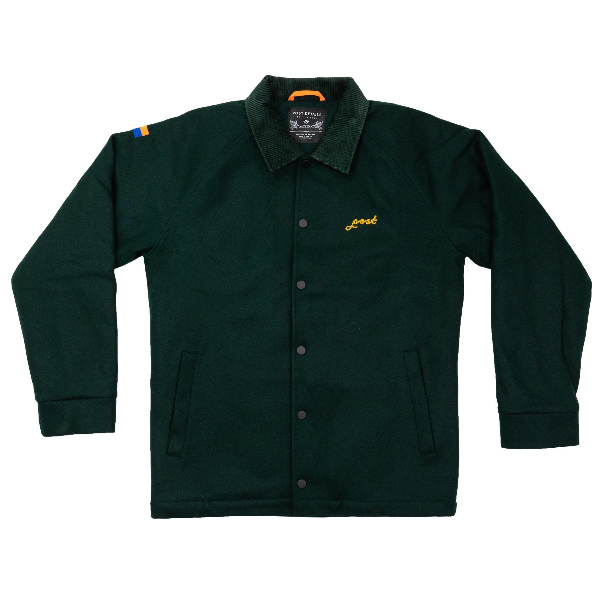 Wool Hydrant Coach Jacket Green