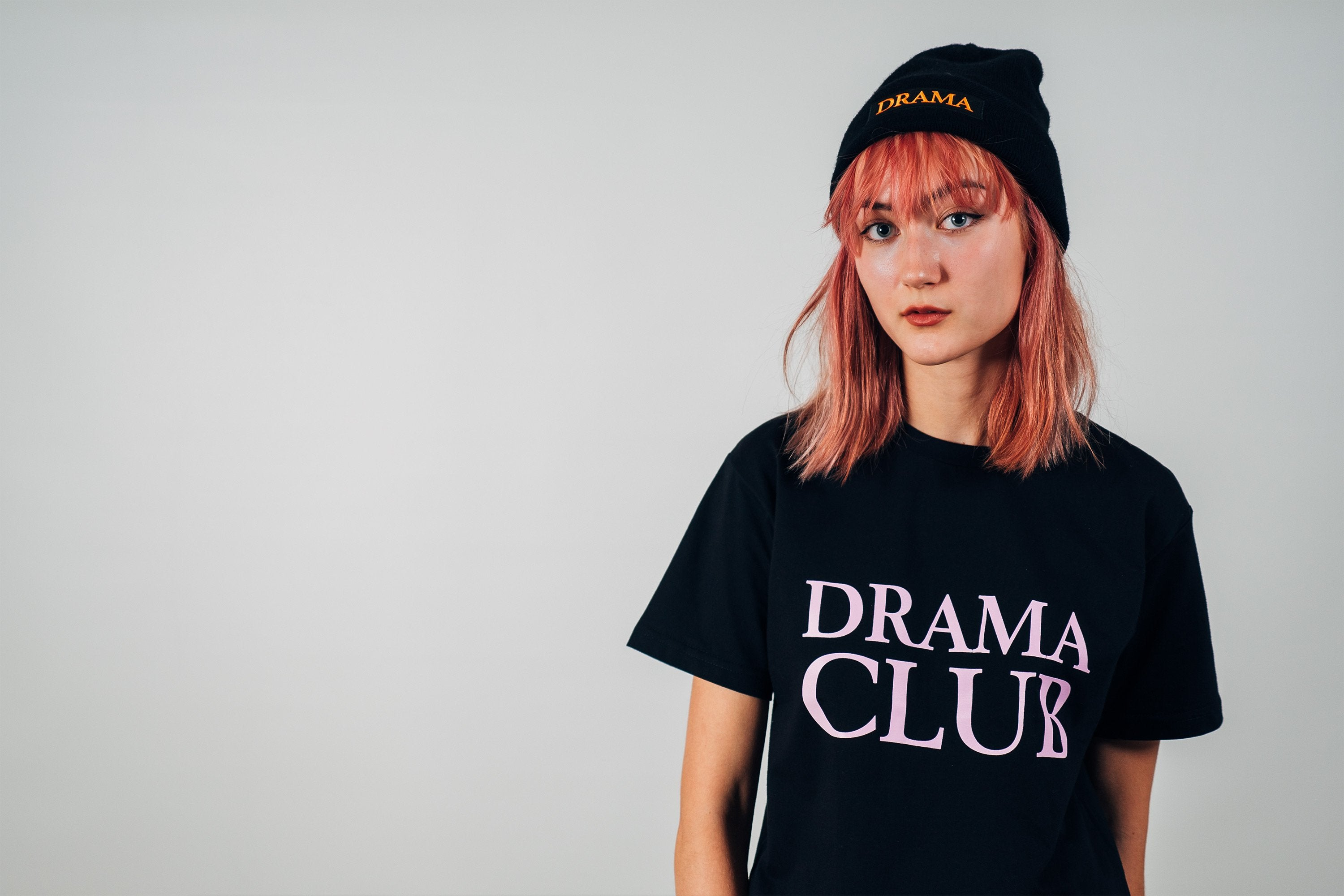 Post Drama Club Logo T-shirt Black
