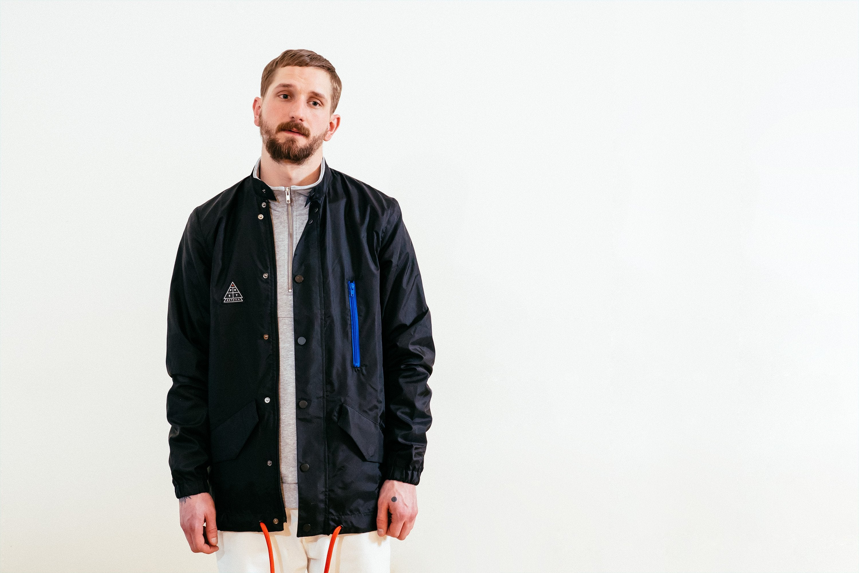 Post Shuffleboard Hoodless Parka Windbreaker