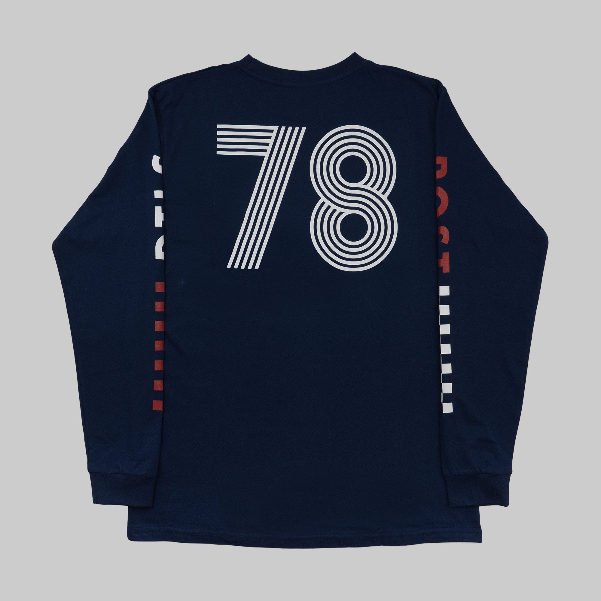 Long sleeve t-shirt - Post REdecades - Racing 78 - Navy