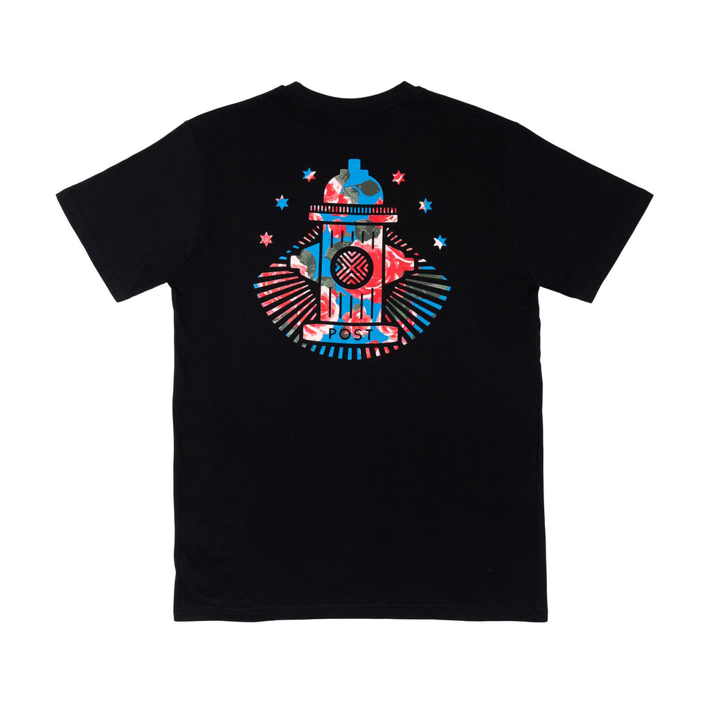 Post Rose Hydrant T-shirt Black
