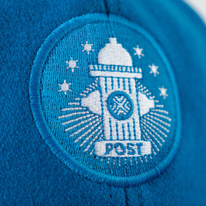 Post Details Six panel cap Hydrant Patch - Aqua