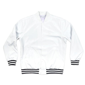 POST DRAMA CLUB BOMBER JACKET WHITE