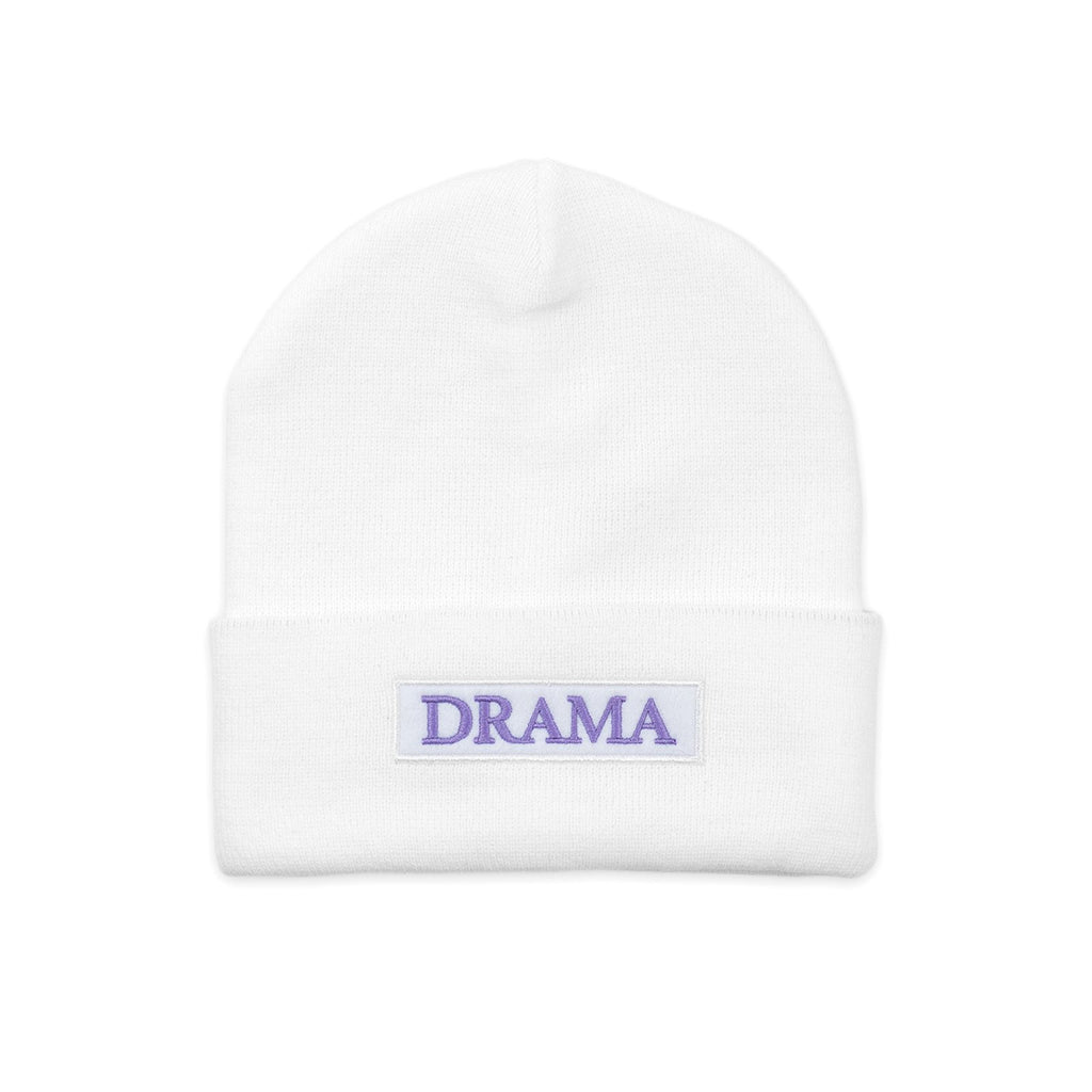 POST DRAMA CLUB BEANIE WHITE
