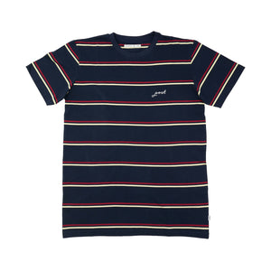 Post Striped Tee Navy