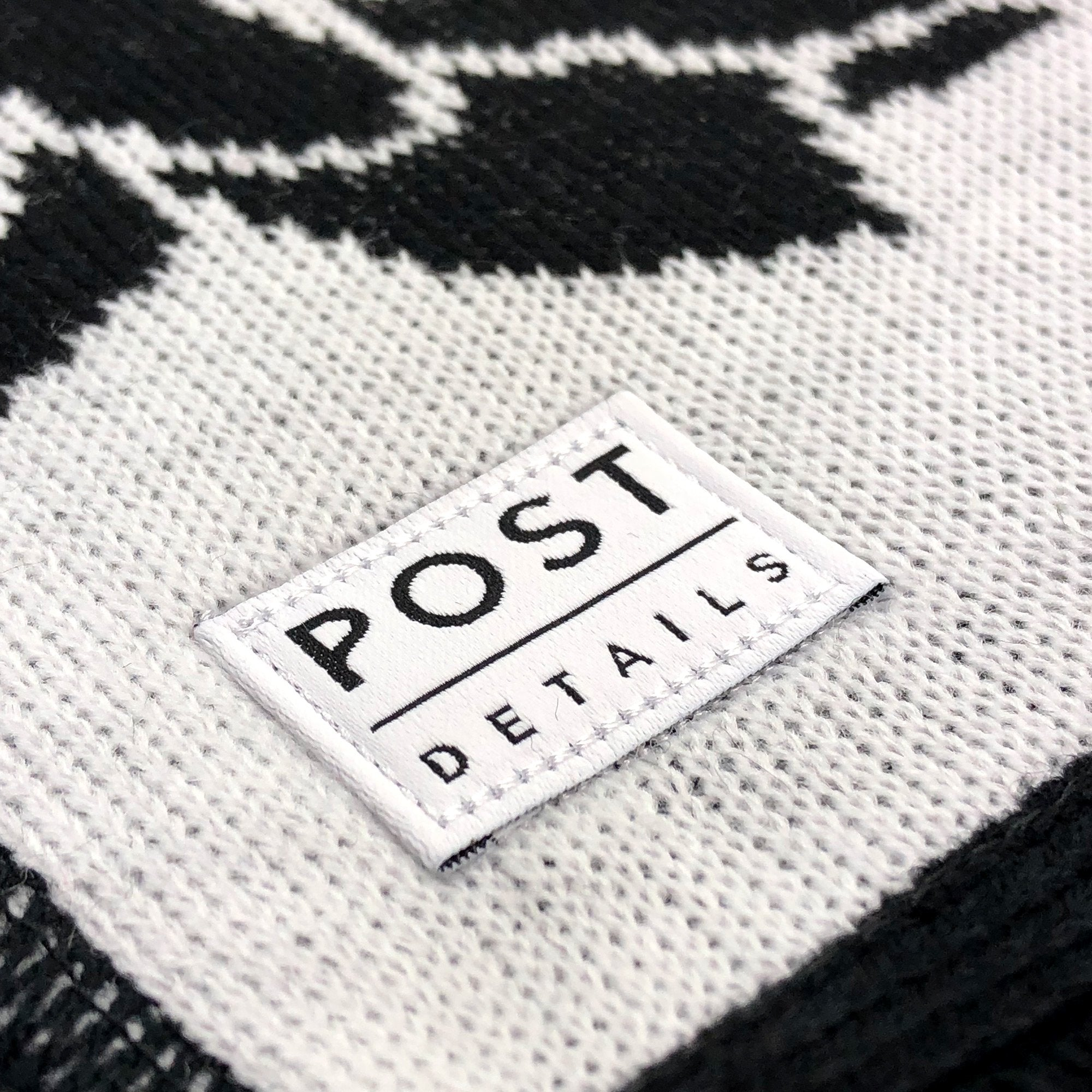 Post No Bills Scarf Black/White