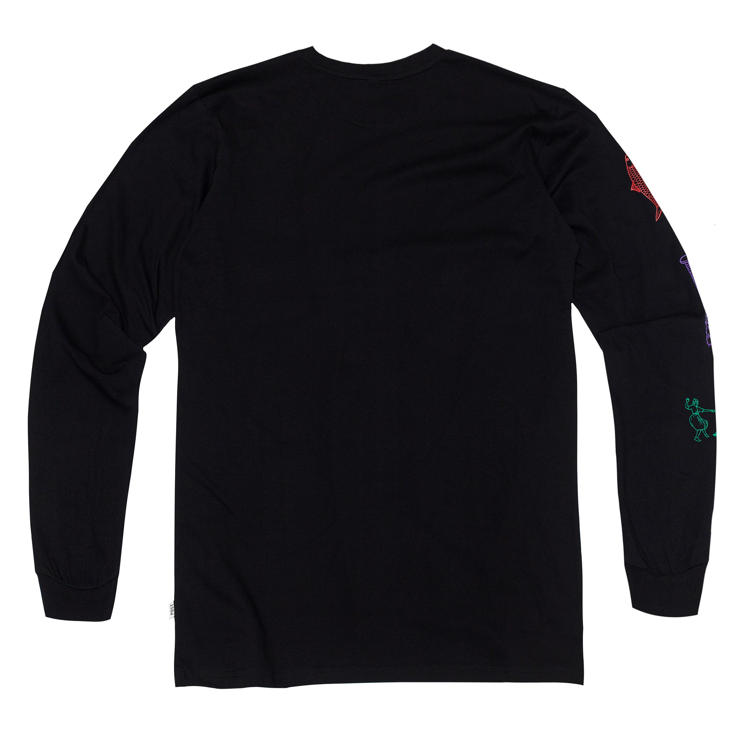 Post Disinformation Division Long sleeve T-Shirt Black
