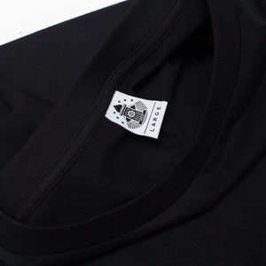 Post Embroidery script logo T-shirt Black