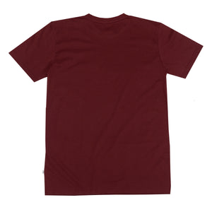 Post Embroidery script logo T-shirt Rust burgundy