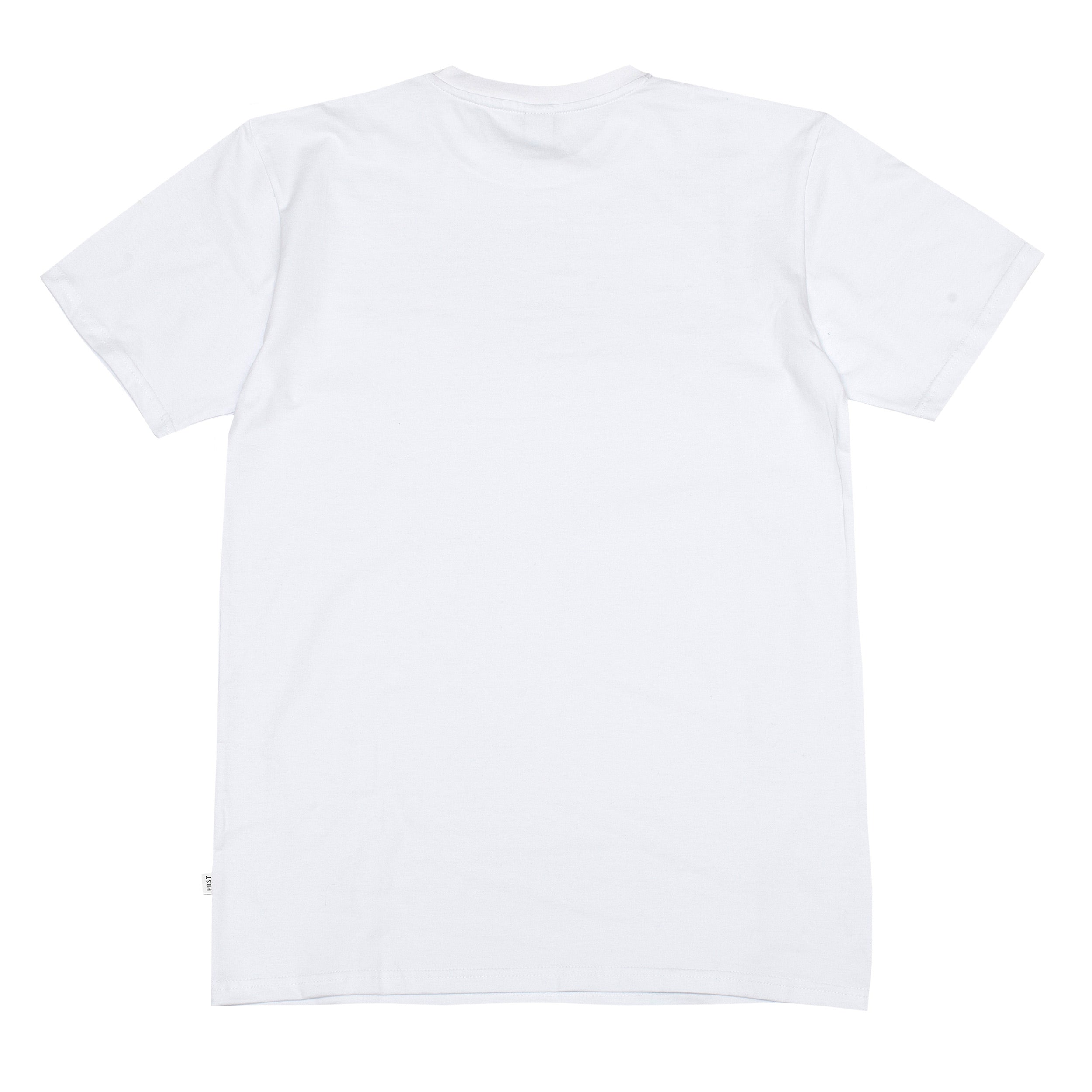 Post Embroidery script logo T-shirt White