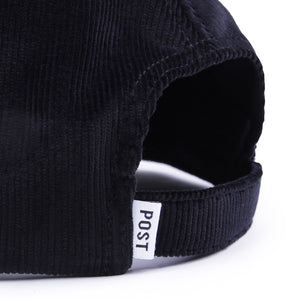 Post Kitsch Cap Embroidery logo Corduroy Black