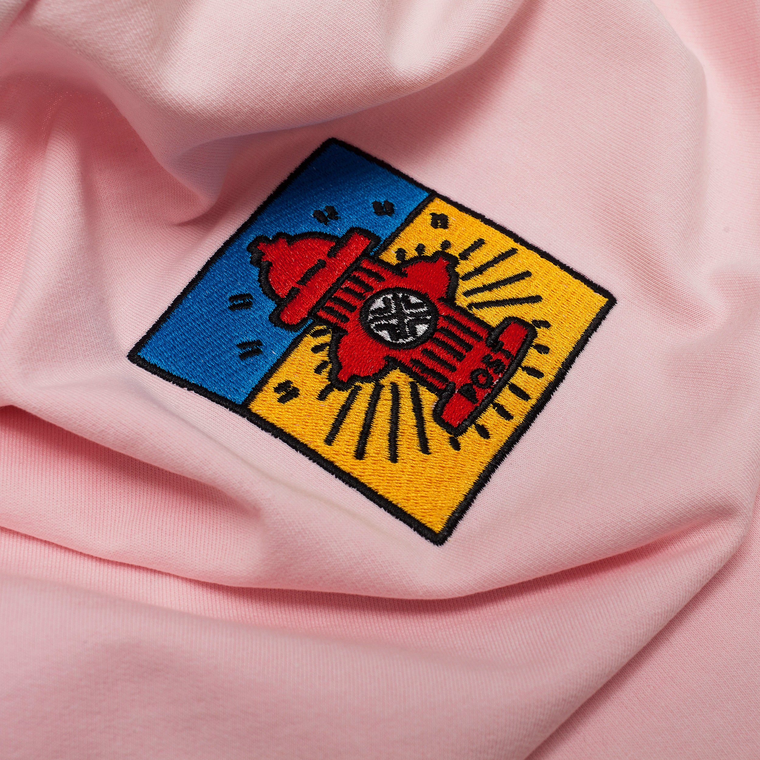 Post Pop Hydrant French Terry Long sleeve T-shirt Acid pink