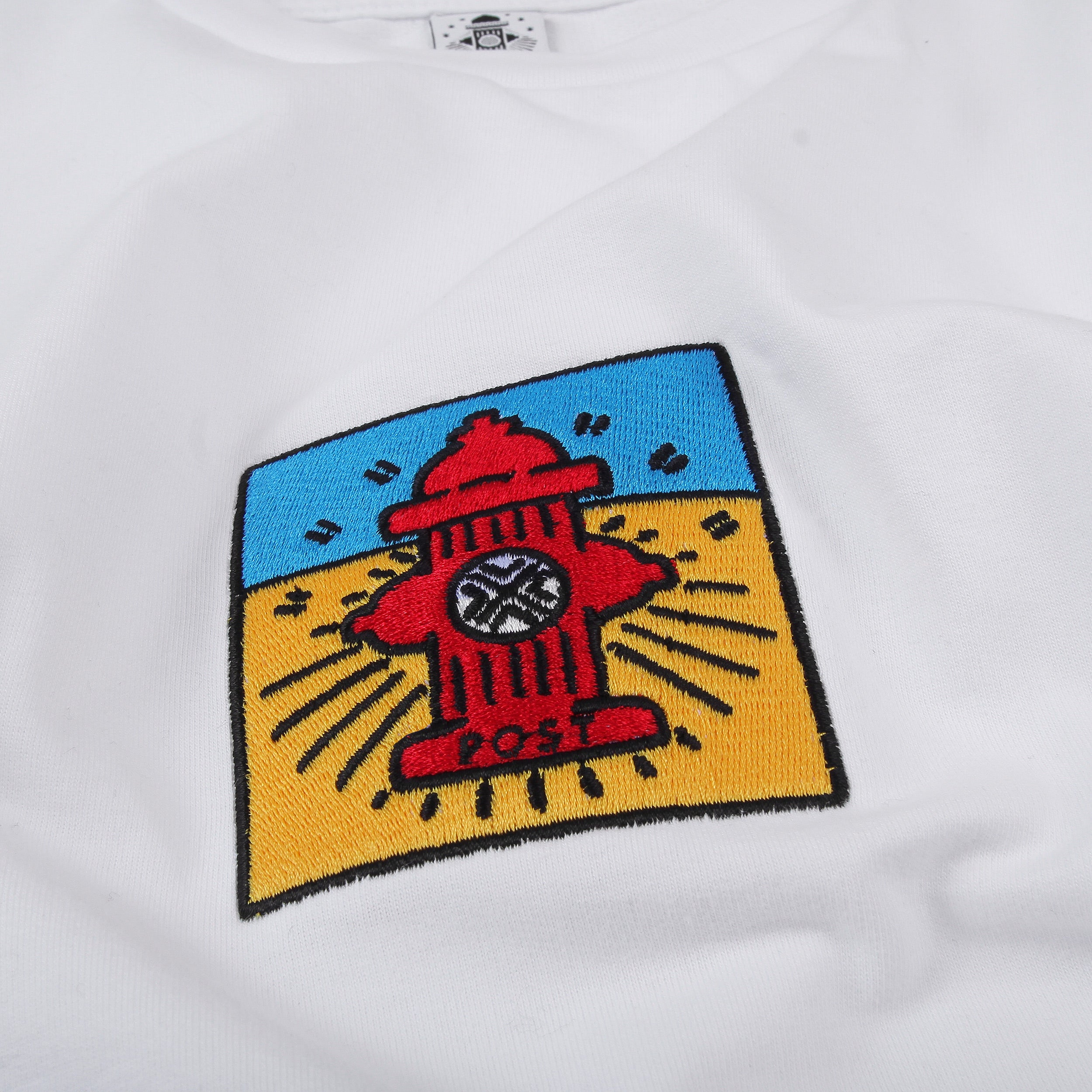 Post Pop Hydrant French Terry Long sleeve T-shirt White