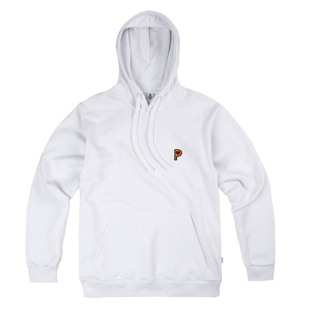Post Pop P Hooded Sweatshirt White