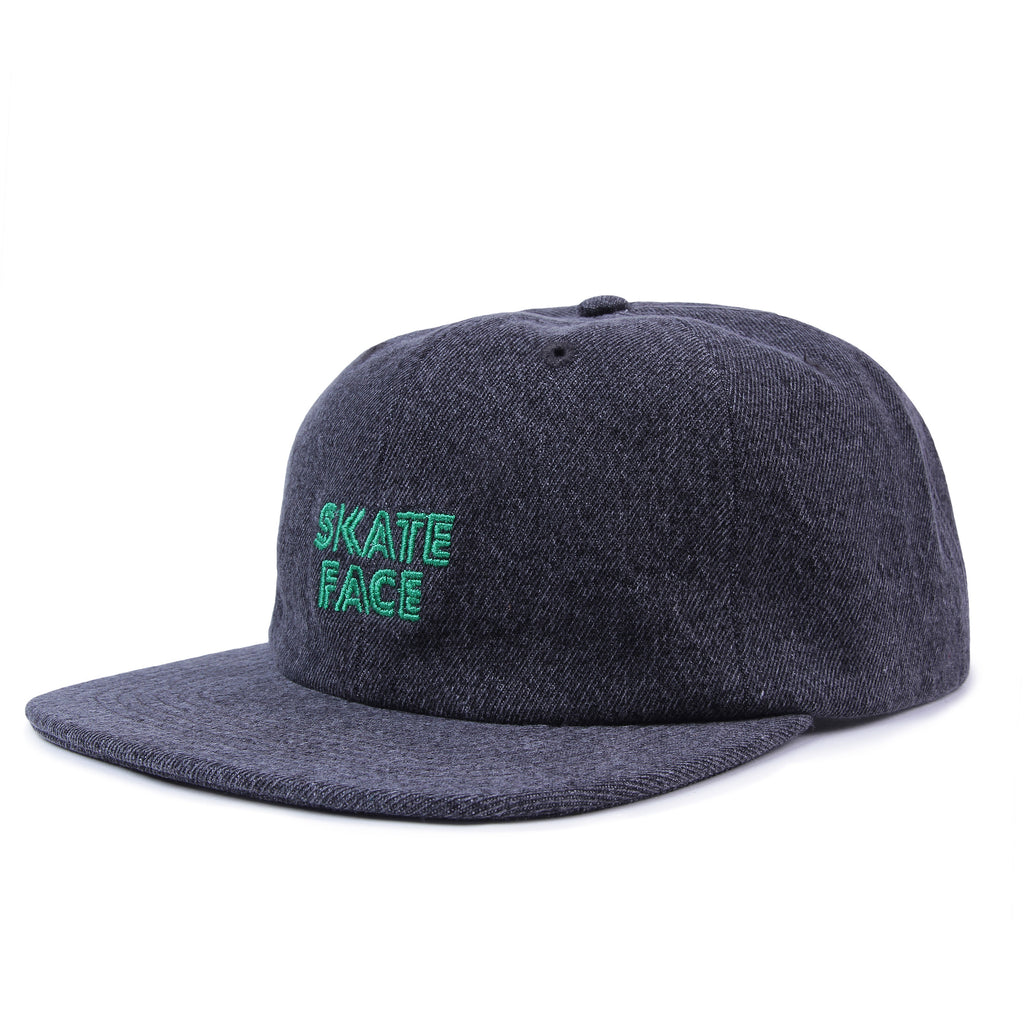 Post Skate Face Denim Cap Acid Black