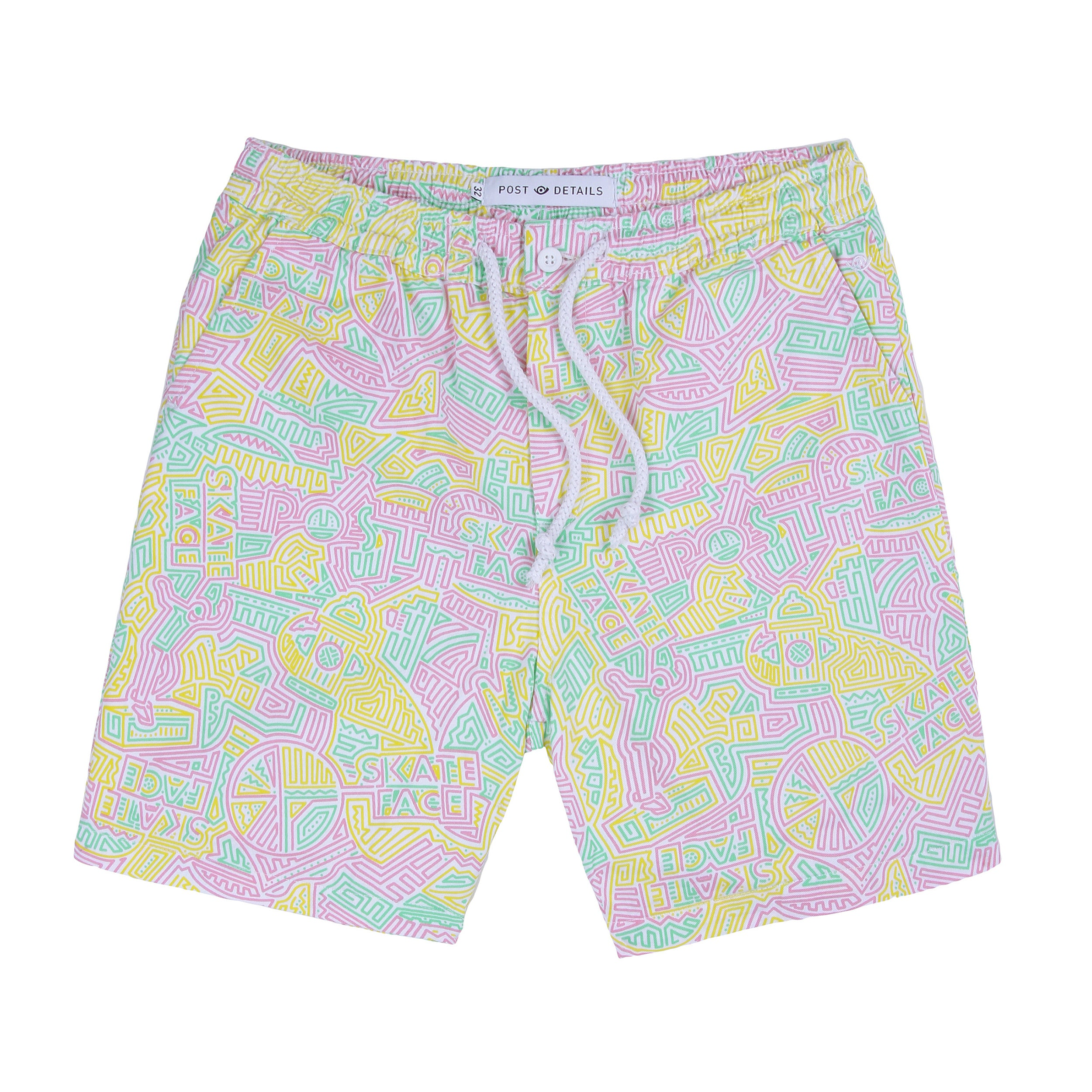 Post Skate Face Leisure Shorts Multicolor