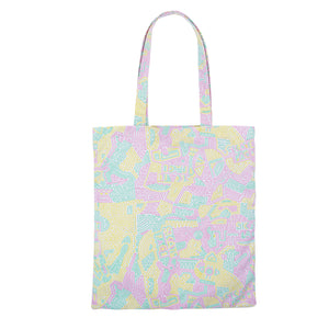 Post Skate Face Multicolor Tote Bag