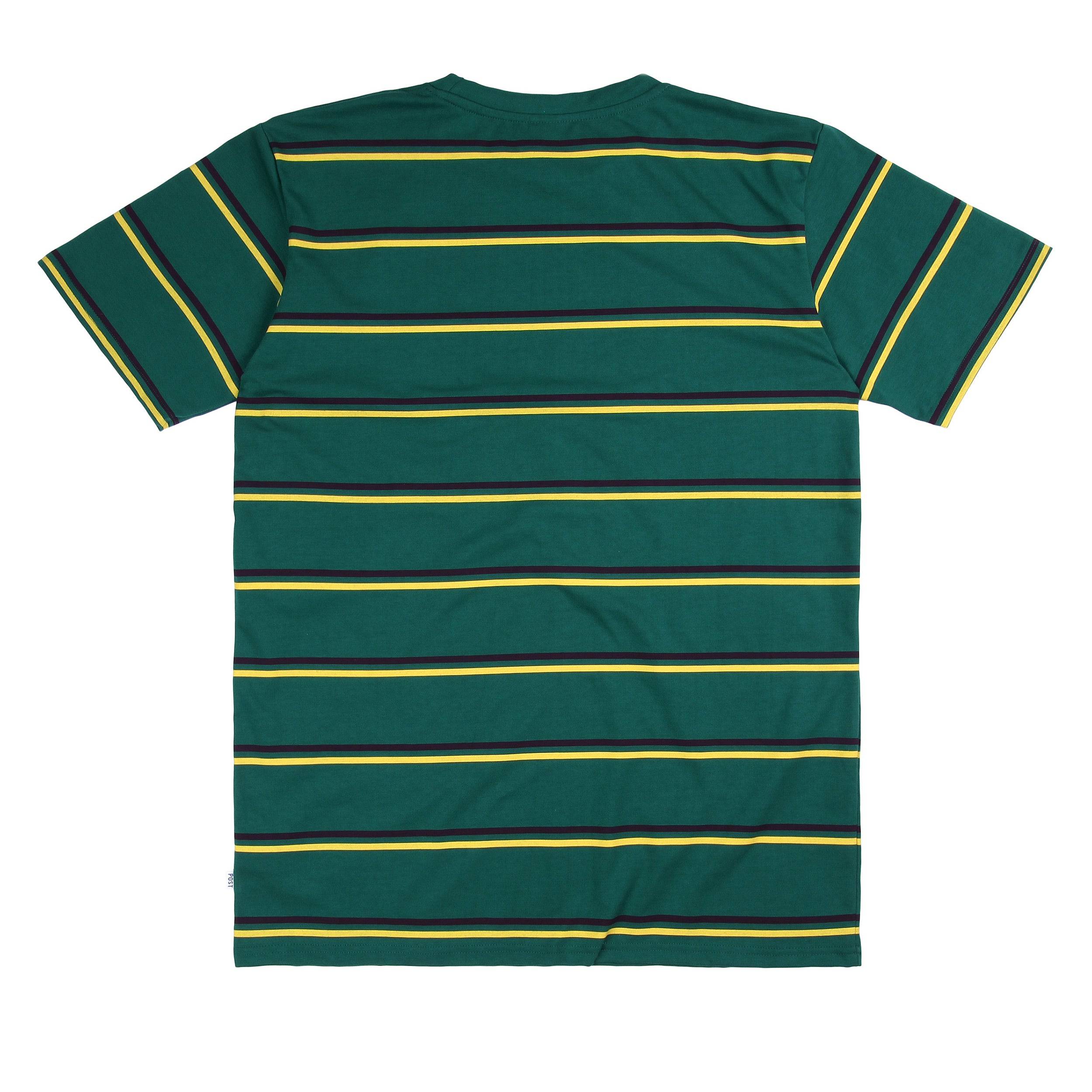Post Striped T-shirt Green/Yellow/Burgundy