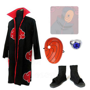 Naruto Obito Uchiwa Cosplay Costume Masque Chaussures