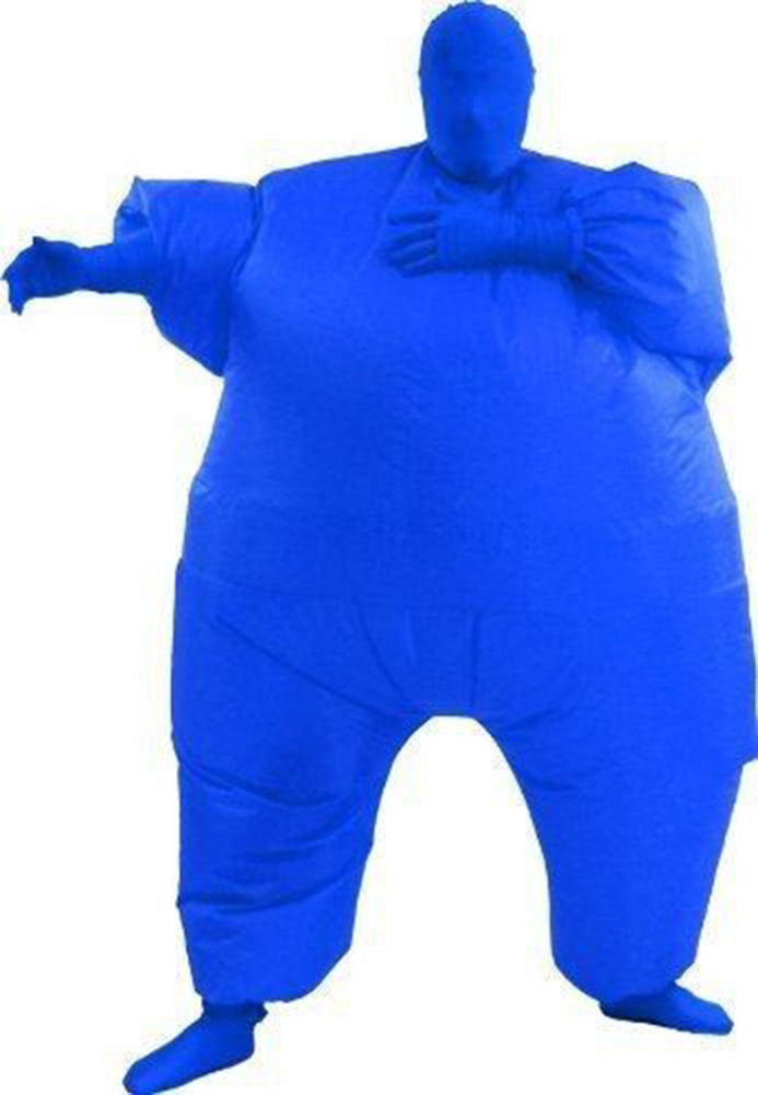 Gonflable Combinaison Taille d'Adulte Cosplay Costume Version Bleue
