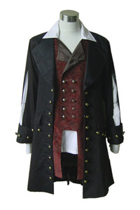 Pirates des Caraibes Barbossa Veste Costume de Cosplay