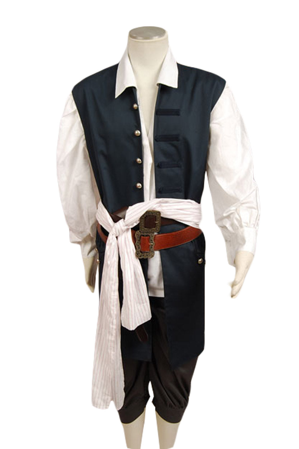 Pirates des Caraibes Jack Sparrow Gilet Cosplay Costume
