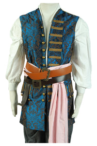 Pirates des Caraibes 4 Jack Sparrow Cosplay Costume