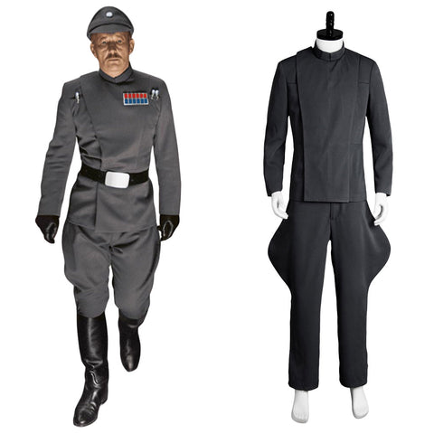 Star Wars Imperial Officer Cosplay Costume Uniforme Gris