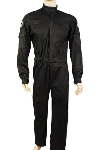 Star Wars Imperial Tie Fighter Pilot Uniforme de Pilote Costume Noire