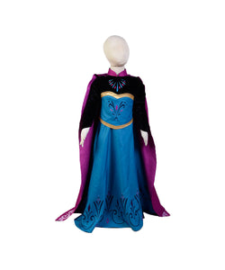 La Reine Des Neiges Elsa Halloween Cosplay Costume Version D'enfant