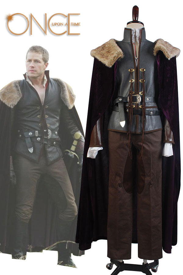 Once Upon a Time Le Prince Charmant David Nolan Cosplay Costume