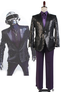 Daft Punk Costume de Spectacle Version Pourpre Cosplay Costume