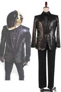 Daft Punk Costume de Spectacle Version Noire Cosplay Costume