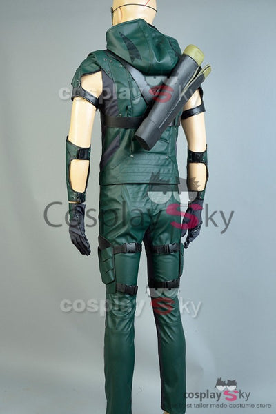 Green Arrow 4 Cosplay Costume Cuir
