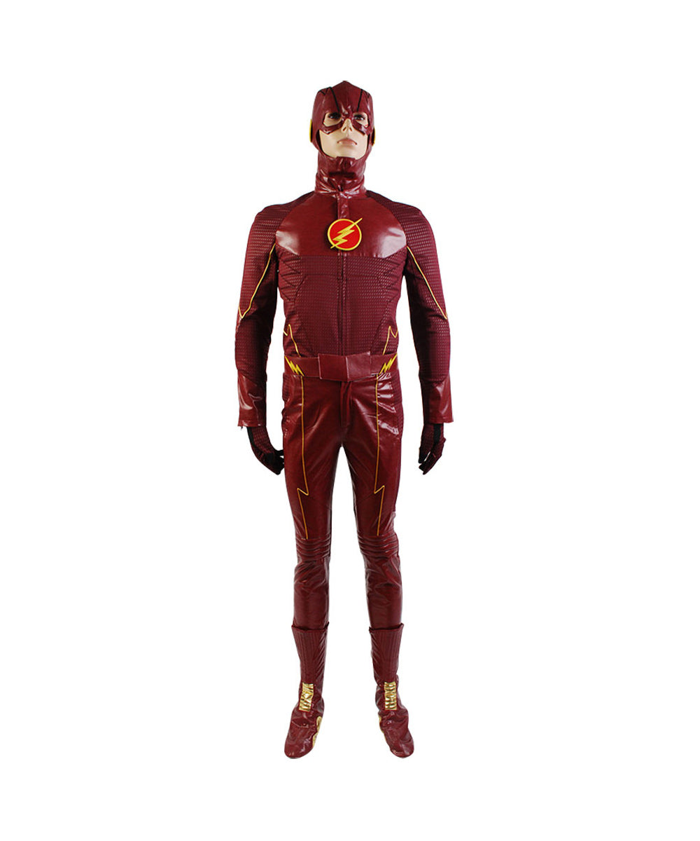 The Flash Barry Allen Uniforme Rouge Cosplay Costume