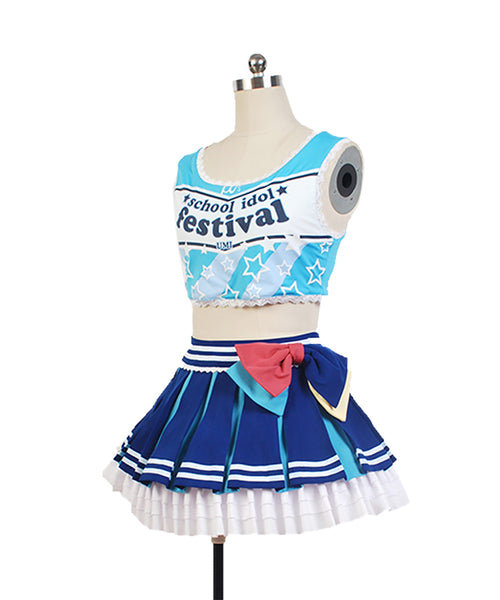 LoveLive! Sonoda Umi Cheerleaders Uniforme Cosplay Costume