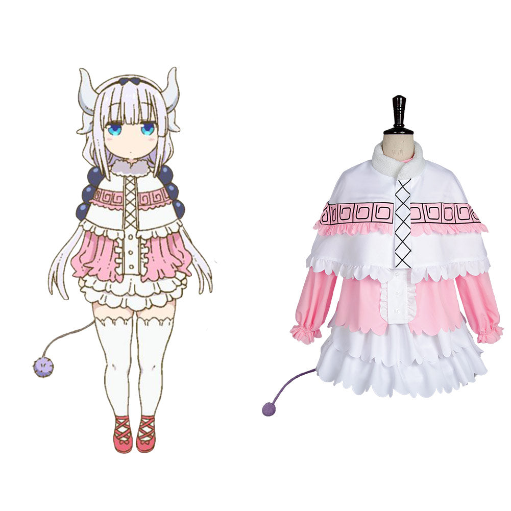 Miss Kobayashi-san Dragon Maid Kanna Kamui Robe Cosplay Costume