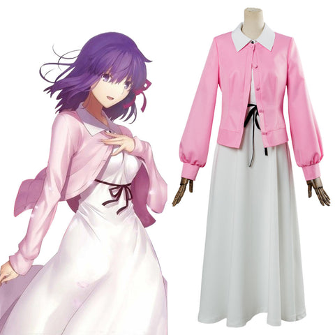 Fate/Stay Night Sakura Robe Cosplay Costume