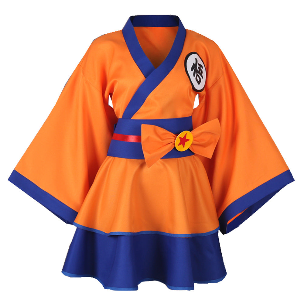Dragon Ball Z Goku Genderbend Lolita Robe Cosplay Costume