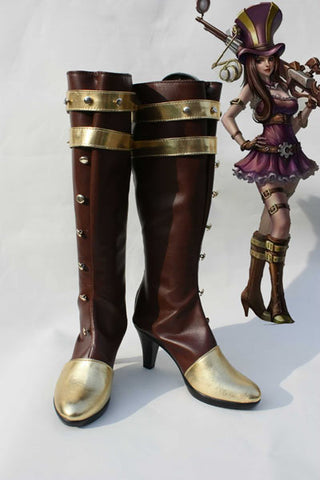 LOL League of Legends Caitlyn Cosplay Chaussures