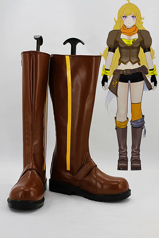 RWBY Yellow Trailer Yang Xiao Long Cosplay Chaussures