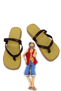 One Piece Monkey D Luffy Cosplay Chaussures