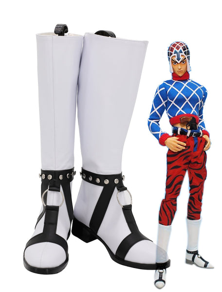 JoJo's Bizarre Adventure Golden Wind JJBA Guido Mista Cosplay Chaussures