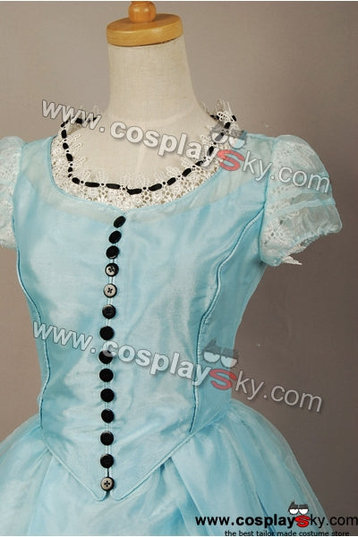 Alice au pays des merveilles Alice Robe Bleue Claire Cosplay Costume