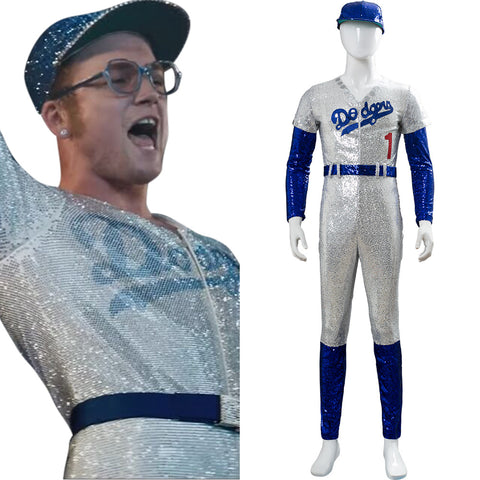 2019 Film Rocketman Elton John Dodgers Baseball Cosplay Costume