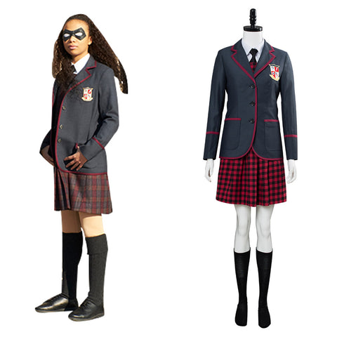 2019 TV Umbrella Academy Uniforme Scolaire Femme Cosplay Costume